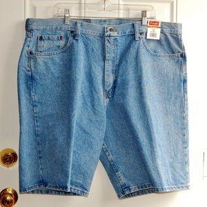 WRANGLER Relaxed Fit Stone-Washed Denim Shorts